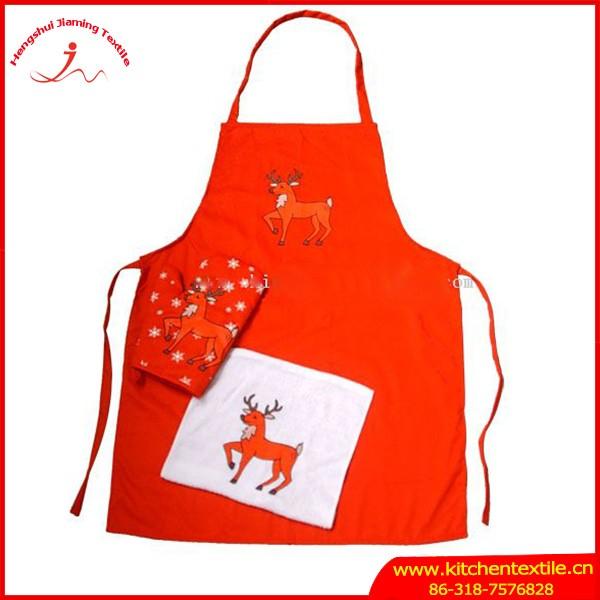 Promoci n ni os impresi n lindo dibujo delantal guante de for Delantales para ninos cocina