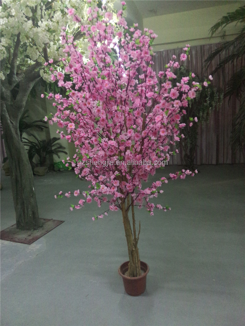 Y09 guangzhou making artificial cherry blossom treefake silk y09 guangzhou making artificial cherry blossom tree fake silk flower plastic cherry blossom trees dhlflorist Gallery