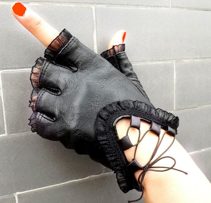 Genuine Sheepskin Leather Driving Gloves for Women