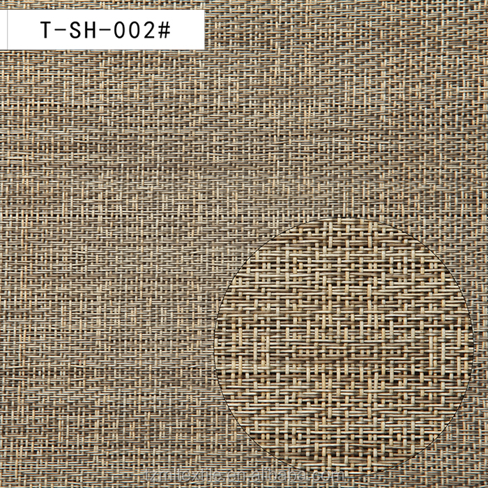 Woven rattan andl plastic vinyl wov <strong>material</strong> used for dining floor mat