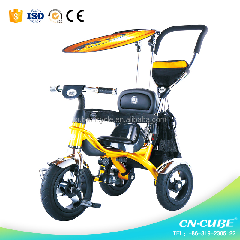 metal children tricycle / baby tricycle walker for 2 years old children / wholesale kids tricycle two seat