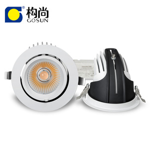 Lighting products 20W LED COB retractable and rotating gimbal downlight