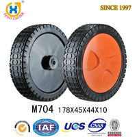 High Quality 7 inch High Performance Strong Lawn Mover PVC Drive Wheel