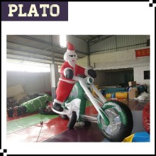 Cool riding inflatable Santa Claus / outdoor inflatable cartoon toys for sale