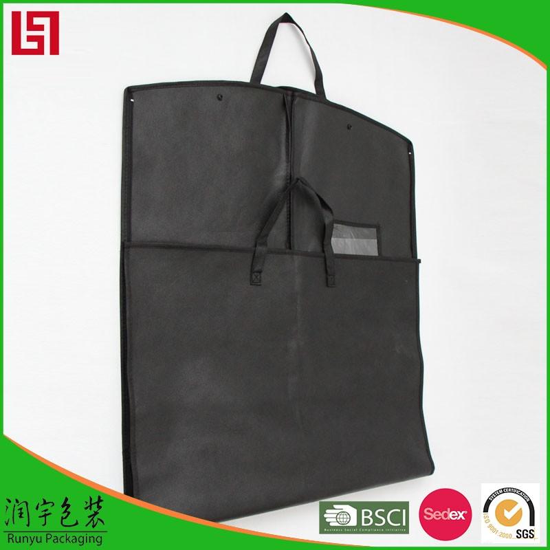 卸売折りたたみ不織布カスタム高級折りたたみガーメントバッグ