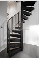 indoor steel support metal spiral stairs/ save space used spiral staircase kits