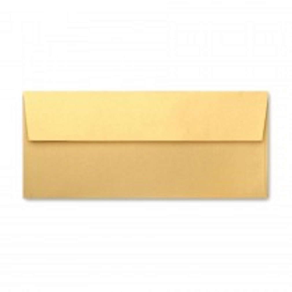 Stardream Metallic No10 Commercial w/ square flap (4-1/8 x 9-1/2) ENVELOPES | Color| Gold;Quantity| 100 Pkg