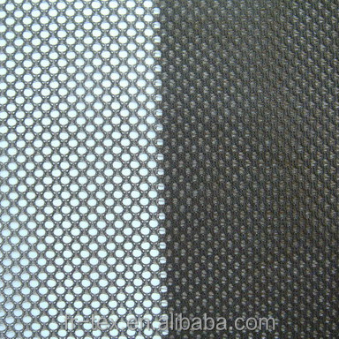 Special design polyester mesh fabric for basketball jersey, different holes at left/right side