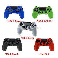 GameMod NEW 1 PCS 5 Colors Soft Silicone Rubber Case Cover For Sony Play Station Dualshock 4 PS4 Wireless Controller Skin