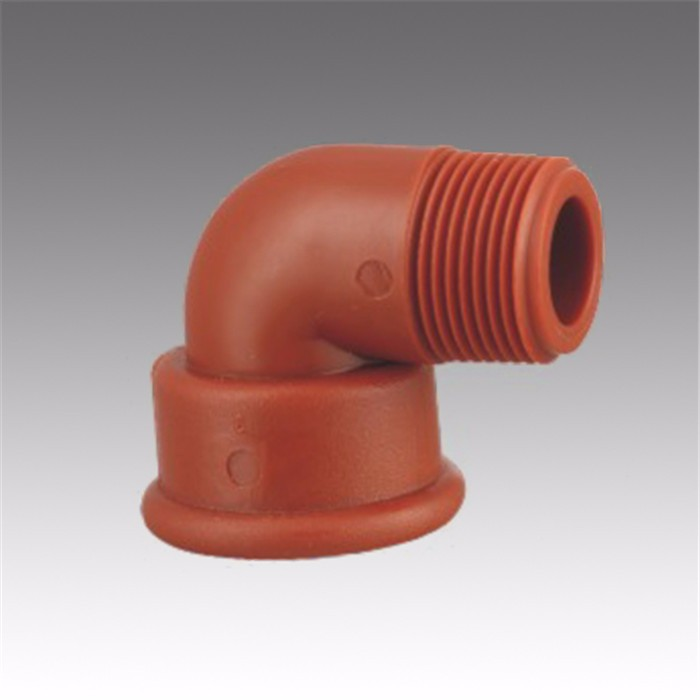 ERA Competitive price factory customized PPH high pressure pipe fittings 90 degree  male thread elbow