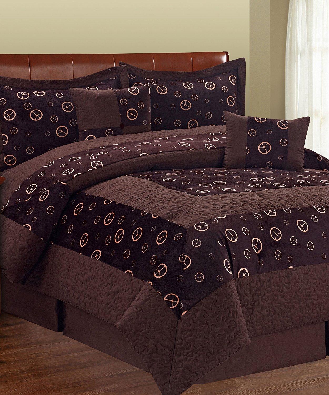 Purple Black Zebra Queen Serenta 6 Piece Animal Style Bed in a Bag Set