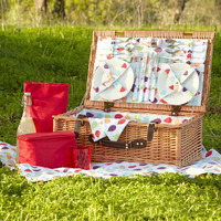 Rectangle Wicker Picnic Natural Wooden Beach Shopping Gift Basket