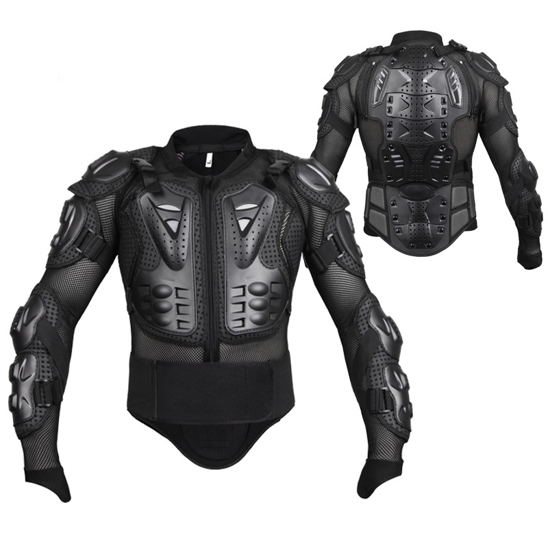 Men's Motorbike Motorcycle Protective Body Armour Armor Jacket Guard Bike Bicycle Cycling Riding Biker Motocross Gear Black