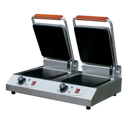 Commercial K406 Double Heads Contact Electric Kitchen Grill Machine