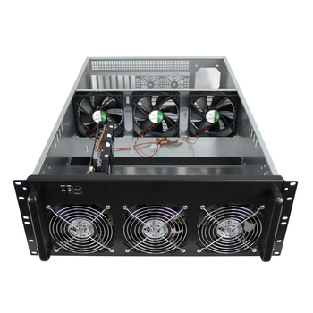 4u Mining Bitcoin Case 6 Gpu Mining Case Rig With 6*high-speed Cooling Fans  - Buy 4u Mining Bitcoin Case,6 Gpu Mining Case,Mining Rig Product on