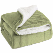 Multiple Colors- Reversible - Sherpa/ Microplush Throw Blanket