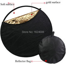 5 in 1 New camera photo accessories 43″ 110cm Soft Collapsible Flash Light Reflector Diffuser +Reflector Bag Kit