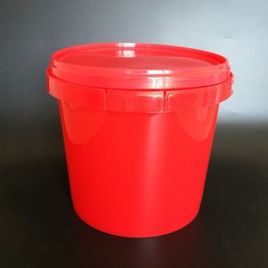 Food Grade Small Plastic Bucket with Lid and Handle