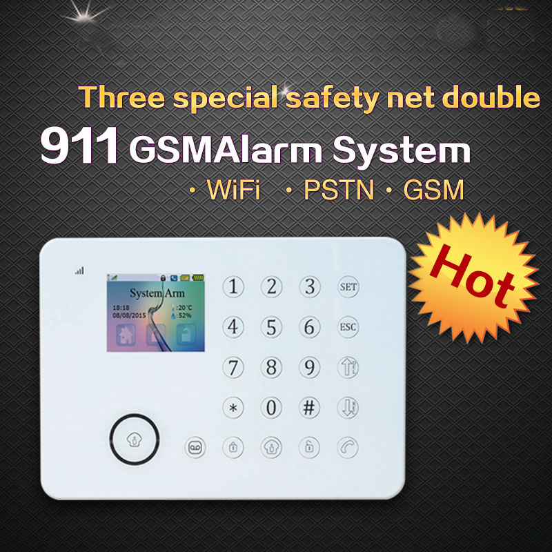 FDL-K911 Security WIFI GSM alarm system intelligent mobile phone support 8 sence and 20 smart linkage WIFI alarm system