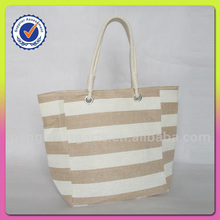 Beautiful ladies tote beach bag with nature stripe handbags