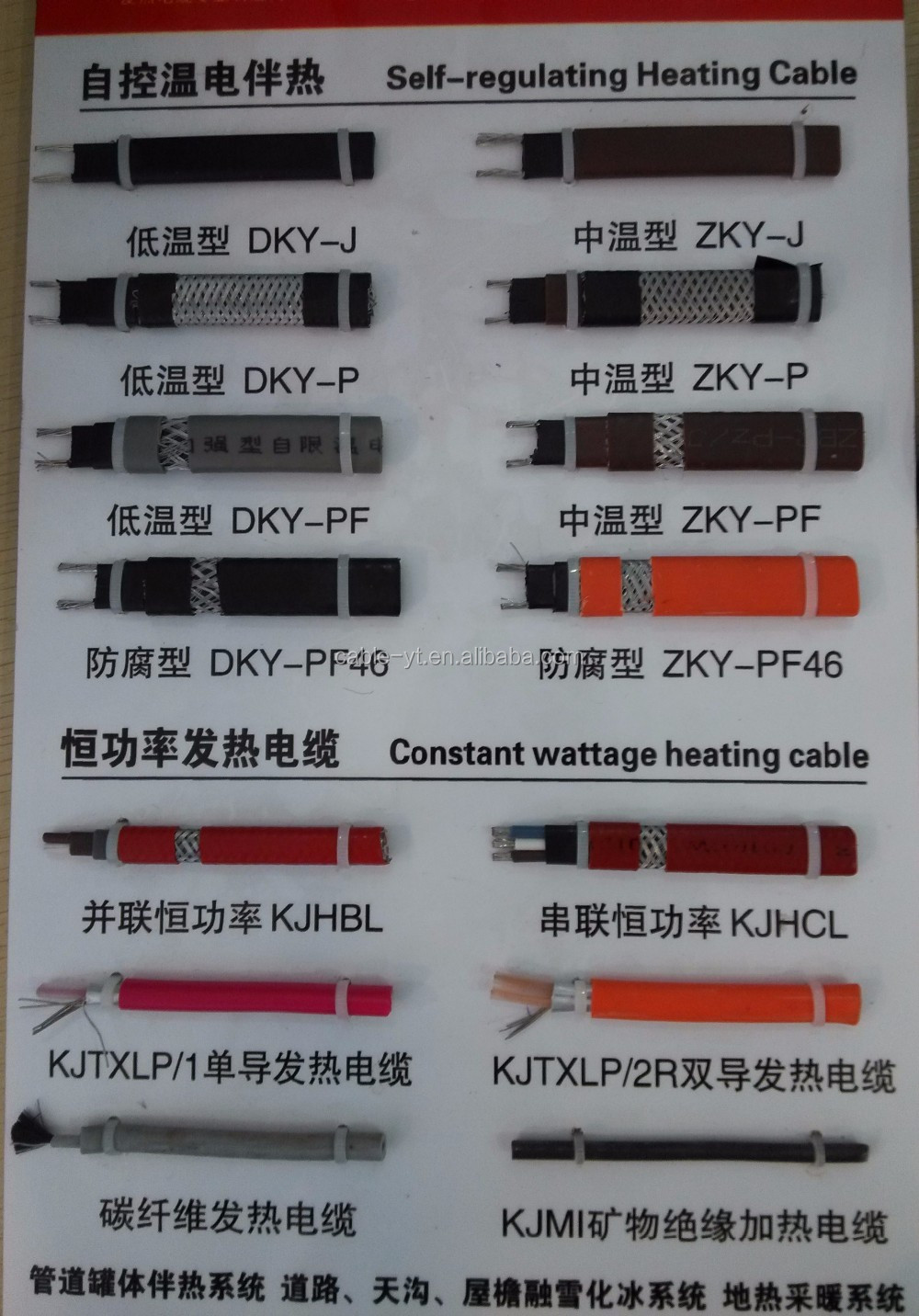 Soil Heat Cable For Low Voltage : Electric low temperature self regulating heating cable