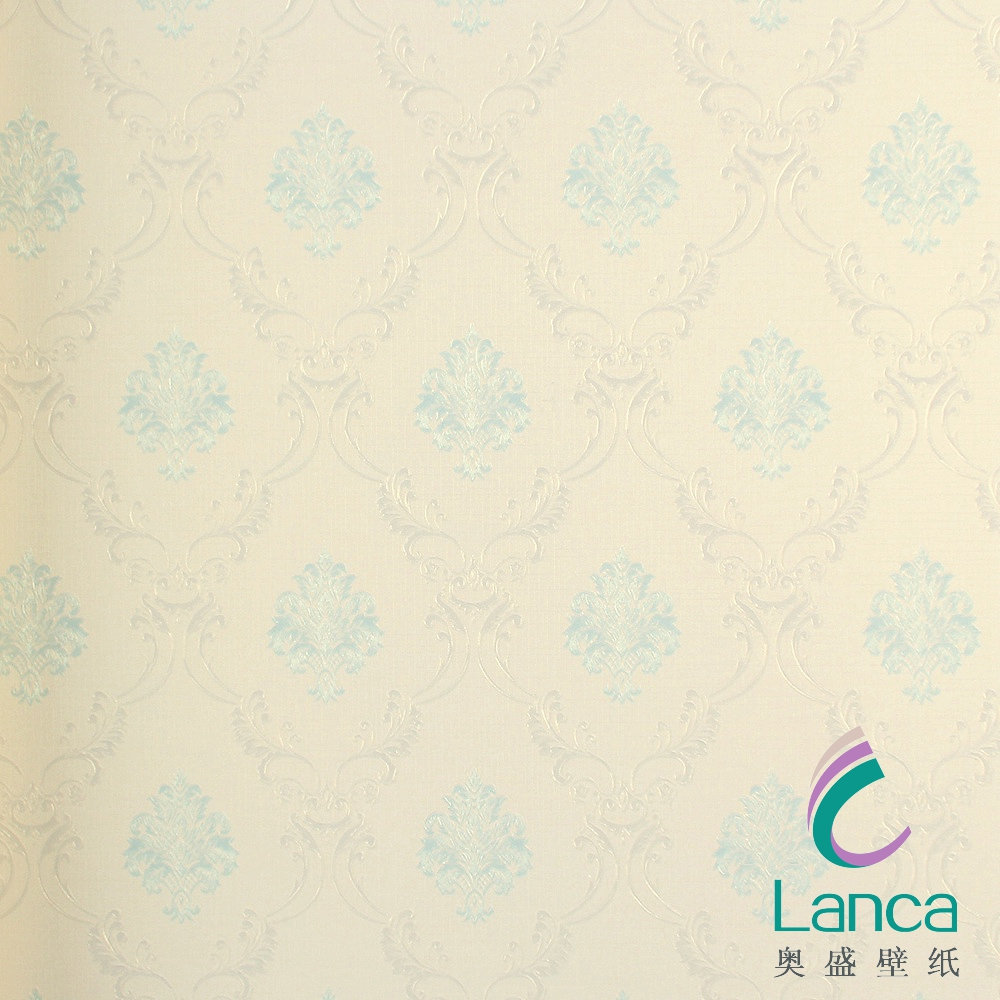 the luxury flocking white wood household damask non-woven wallpaper border