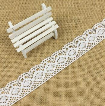 4.3CM High Quality Guipure Lace Trim Cheap 100% Cotton Embroidery Lace Trim for Dress C236