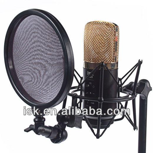 isk rm8 grand professionnel microphone condensateur diaphragme pour le studio et le chant. Black Bedroom Furniture Sets. Home Design Ideas