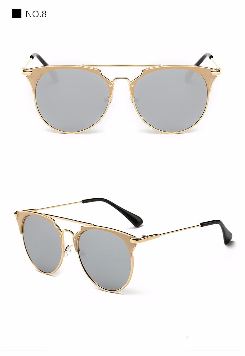 Fashion Retro Round Cat Eye Sunglasses Men Women Designer