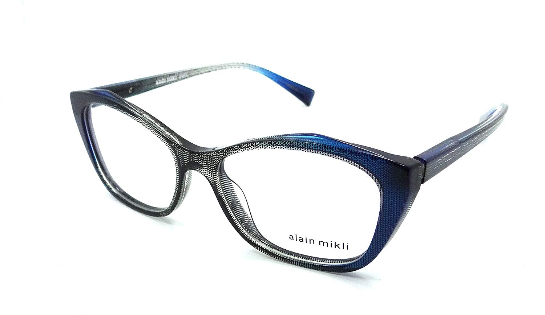 102335d7282 Get Quotations · Alain Mikli Rx Eyeglasses Frames A03060 F008 54-16-140  Black Blue Dot