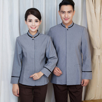 Dustman cleaner coverall winter housekeeping staff hotel restaurant uniform for cleaning