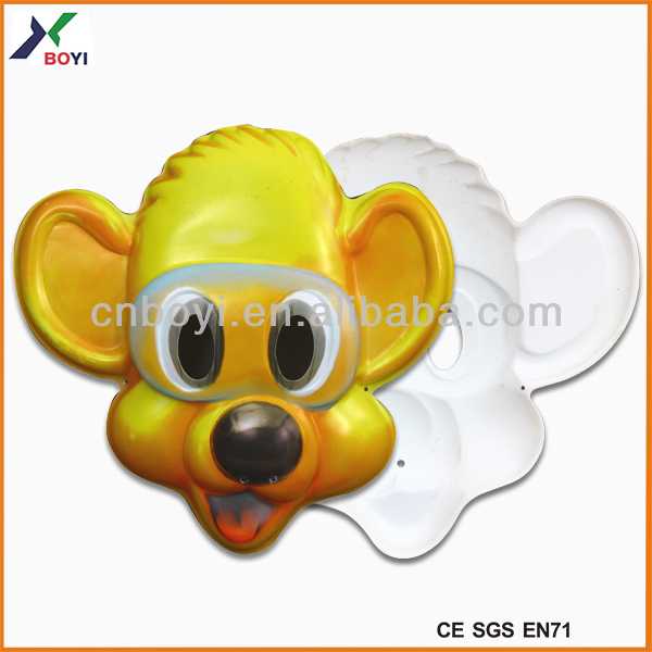 DP7001-6 0.35mm thickness 30g/pc pvc plastic children cartoon face mask