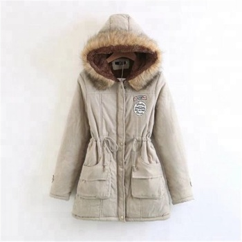 Winter Coat Women New Parka Casual Outwear Military Hooded Thickening Cotton Coat Winter Jacket Fur Coat Women Clothes