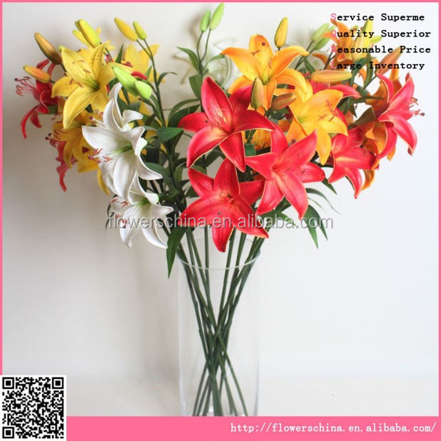 Wholesale Export Silk Flowers Artificial Tiger Lily,Imitation ...
