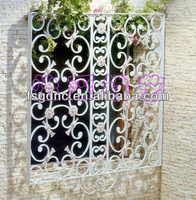 Wrought iron window grill design/window modern