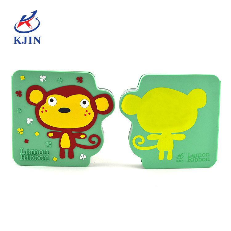 Soft silicone cover notepad Customized design 3D animal silicone cover mini notebook for gift