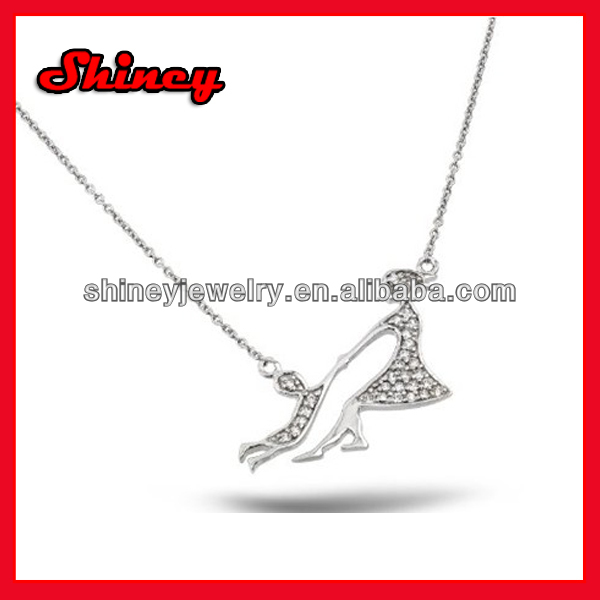 Christmas gift moon star charm cz drop elegance lovely tiny cz star pearl necklace for women and girls