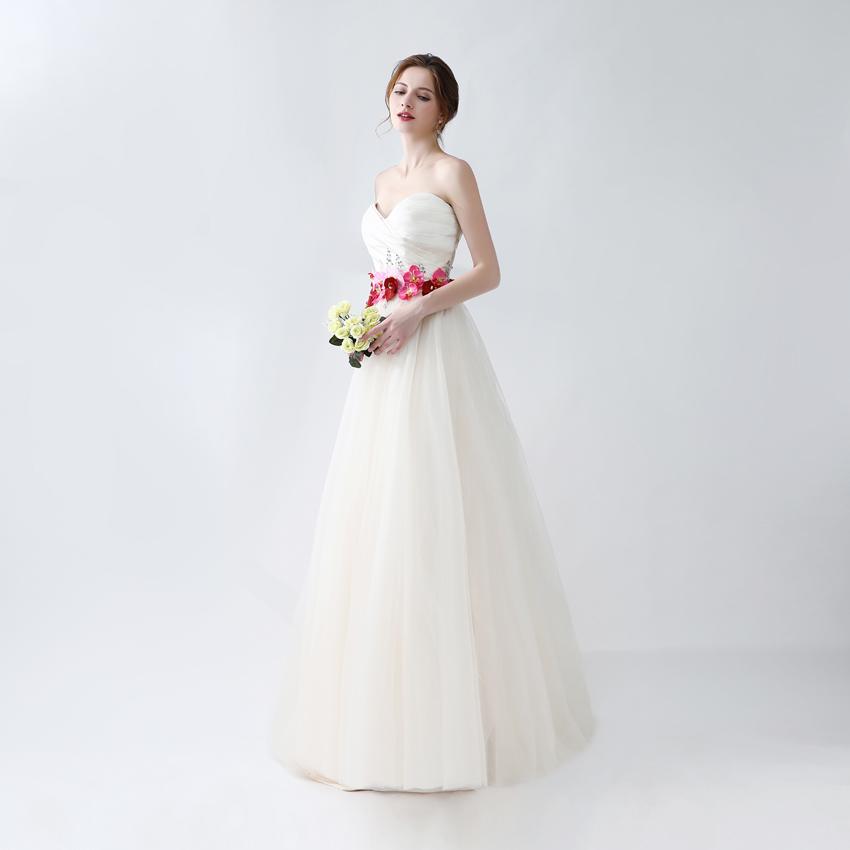 100% Real Sweetheart Off White Evening Dresses 2018 Vestido Longo ...