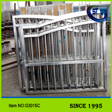 China supplier powder coated ornamental sliding gate / metal double open fence gate / wrought iron fence gate G3015C