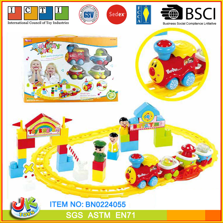 [JK TOYS] ABS Plastic Battery Safe Operated Baby Train Toy Set