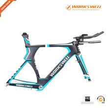 Chinese Oem new carbon bike frame for Triathlon and track racing fit 700*25C max tire