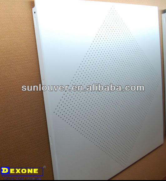 aluminum sheet pressed metal office ceiling as decoration
