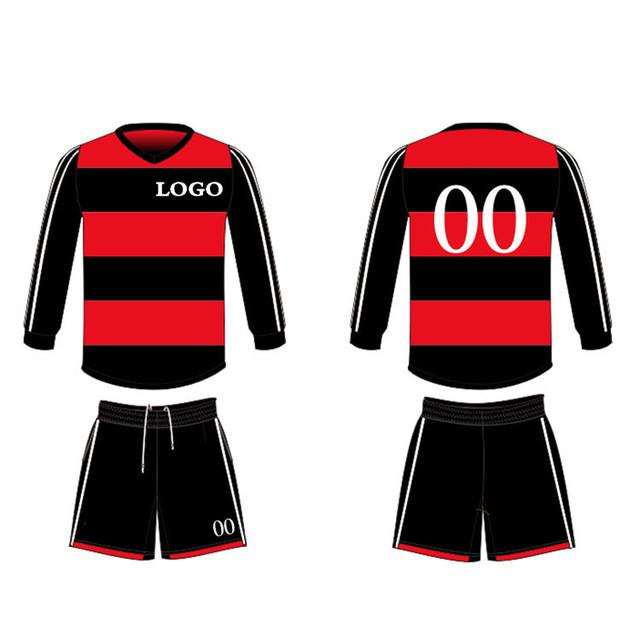 da1fa60020e 2016 2017 new blank soccer uniform bulk custom team long sleeve barcelona  soccer jersey