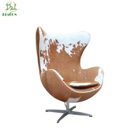 Reproduction cowhide leather chairs