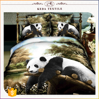 Bedding suppliers in China cheap wholesale set price textiles direct buy factory cute panda 3d bedsheets