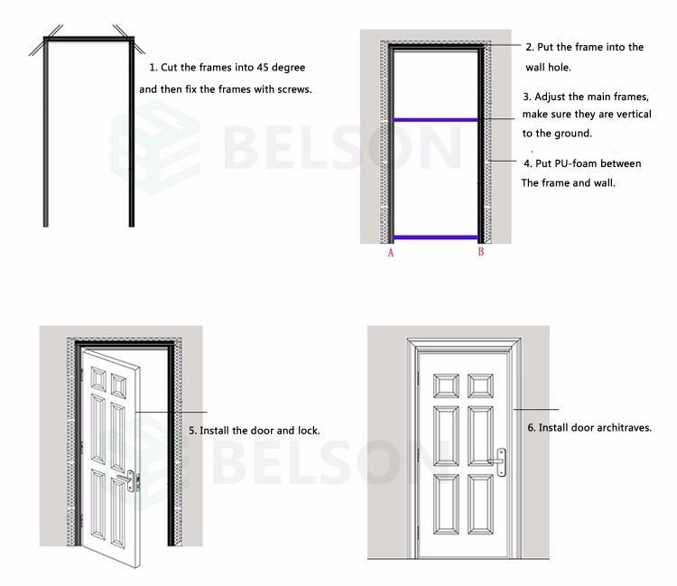 Direct Buy Form China Finger Joint Wood Plastic Composite Door Frame ...