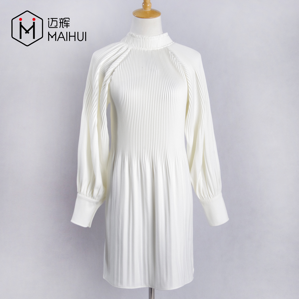 Giyim Kadın Üstleri Son Moda Tasarım Kadın Bluz Buruşuk Crimple Pileli Gömlek
