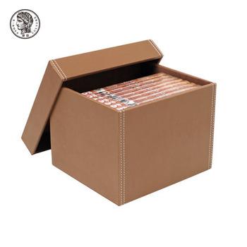 Faux Leather File Storage Box