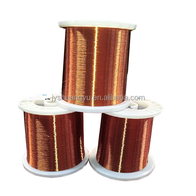 UL RoHS self bonding adhesive polyurethane 38 AWG,155 degree, red color enamel copper magnet wire