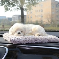 Car Decoration Dog With Air Purifier Bamboo Charcoal Bag Lovely Cat for Home Office Car Styling Auto Accessories Ornaments